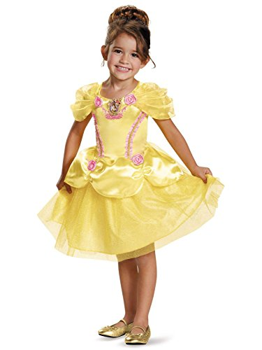 Disney Princess Girls Belle Classic Costumes (Belle Toddler Classic Costume, Medium (3T-4T))