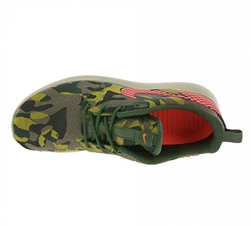 Nike Roshe One Prem Plus Scarpe Da Corsa Da Donna 807614-083_6 - Nero / Ht Lava-crbn Grn-dsrt Cm