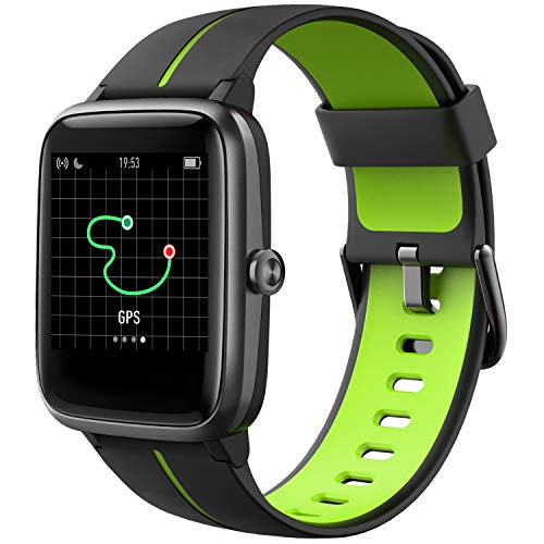 Blackview Smart Watch, GPS Running Watches for Men Women and Kids Fitness Tracker Heart Rate Monitor 5ATM Waterproof, Smartwatch Compatible iPhone Android Phones