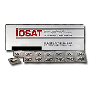 IOSAT Potassium Iodide Tablets USP, 130 mg, 14 Count