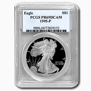 1995-P (PROOF) Silver American Eagle - PR-69 DCAM PCGS