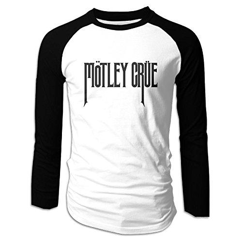 Motley Heavy Metal Crue Black Men's Round Neck Raglan Shirts