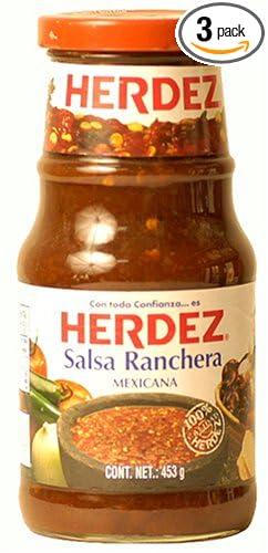 Herdez Salsa Ranchera, 15.9-Ounce Bottle (Pack of 3)