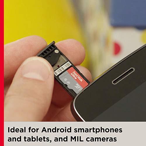 SanDisk 400GB Ultra microSDXC UHS-I Memory Card with Adapter - 120MB/s, C10, U1, Full HD, A1, Micro SD Card - SDSQUA4-400G-GN6MA