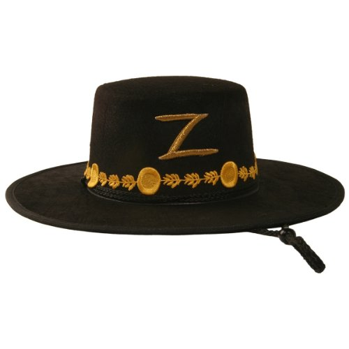 (Rubie's Men's Zorro Deluxe Hat, Black, One Size)