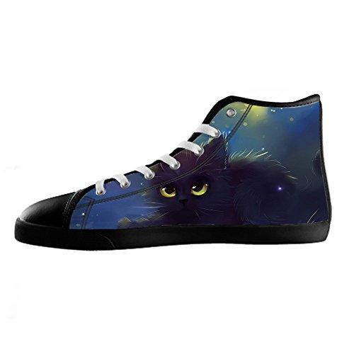 Barato 2018 Nueva Barato Barato Venta Custom Gatti di pittura Womens Canvas shoes I lacci delle scarpe scarpe scarpe da ginnastica Alto tetto Sitios Web De Venta Venta Venta Barata Para Barato MvqRZmxz