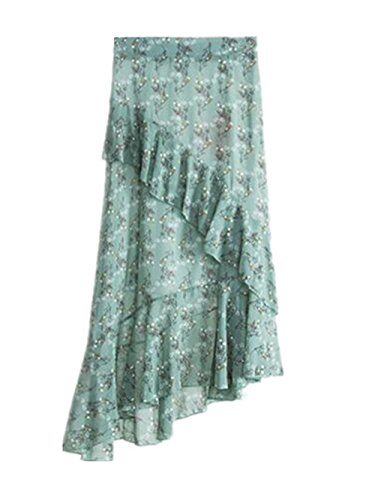 Taille Jupe Jupe Slim Extensible Green Mousseline Femelle Skirt Jupe Femme Fit Aoliait Mi Jupe ElGant Longue Irrgulier 5BO0wFvO