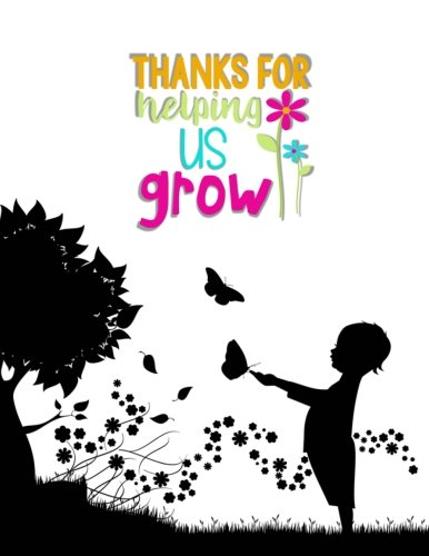 Teacher Thank You - Thanks For Helping Us Grow: Teacher Notebook - Journal or Planner for Teacher Gift: Great for Teacher Appreciation/Thank You/Retirement/Year End Gift - Child and Butterflies - Mug Caterpillar