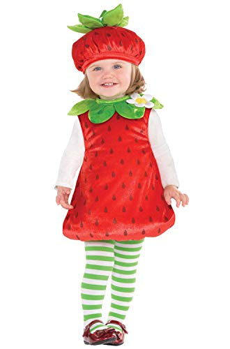 AmScan Costumes USA Strawberry Baby Infant Costume