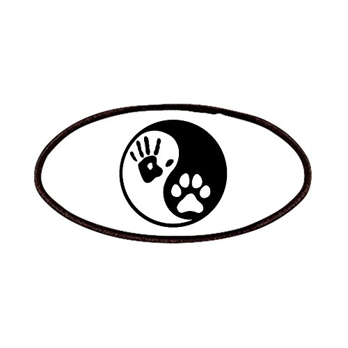 CafePress - Human & Dog Yin Yang Patches - Patch, 4x2in Printed Novelty Applique Patch