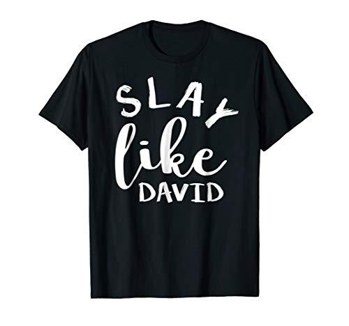 Slay Like David Unique Christian Bible Gift T-Shirt S000028