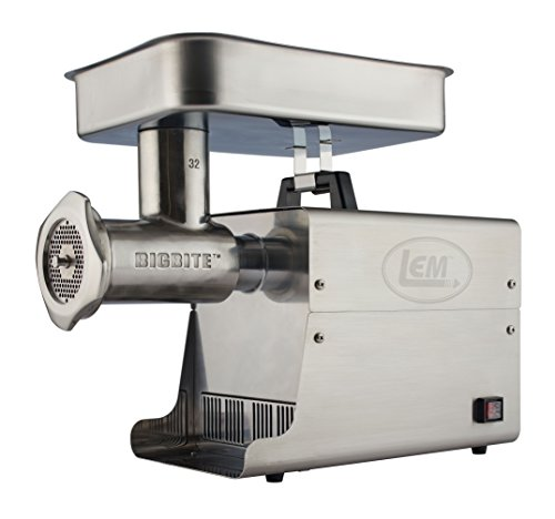 LEM Products 17821 Big Bite #32 1.5HP Stainless Steel Electric Meat Grinder (32 Electric Meat Grinder)