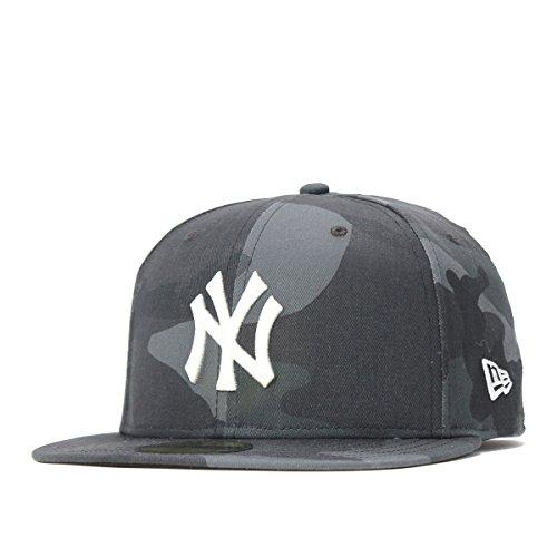 (ニューエラ) NEW ERA キャップ 59FIFTY MLB ニューヨークヤンキース ウッドランドカモミッドナイト カモフラ 迷彩柄 7 5/8 約60.6cm