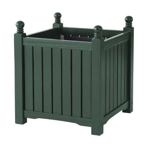 DMC Products Lexington 20-Inch Square Solid Wood Planter, Hunter Green from DMC Products