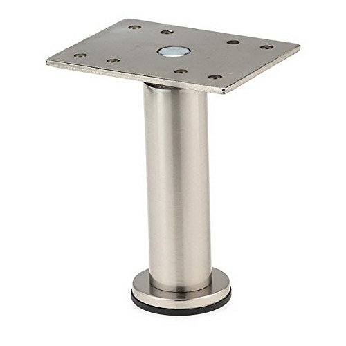 Richelieu Hardware 64217050155 BORSA - Ajustable Furniture Leg Leg-642, Satin Nickel