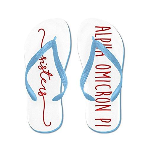 CafePress Alpha Omicron PI Sisters - Flip Flops, Funny Thong Sandals, Beach Sandals Caribbean Blue