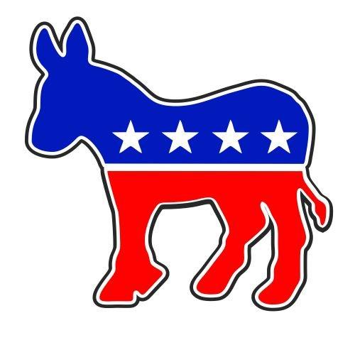 JS Artworks Democratic Donkey Democrat Vinyl Sticker Decal -