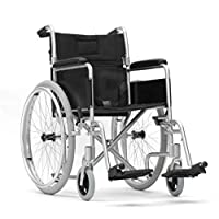"""Superlight Self Propel Wheelchair Manual Mobility Aid Lightweight 18"""" Seat"""