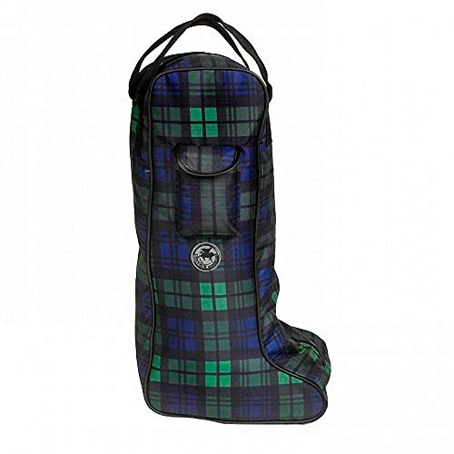 (Centaur Classic Lined Blackwatch Plaid Tall Boot Carry Bag, One Size)
