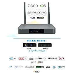 Zidoo X9S Android TV Box Android 6.0 Quad Core 2G/16G Dual Band WIFI 1000Mbps LAN HDR USB3.0 HDMI IN Recoder SATA 3.0 Bluetooth