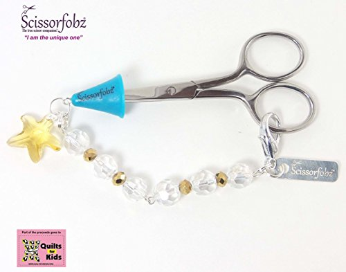 Scissor fobs by SCISSORFOBZ-Elegant Collection-One of a kind- Quilters Sewers Gifts. FREE: Golden Stork Embroidery Scissors, Bluetooth Scissorfinder, Magnetic Gift Box & Reusable Tote bag. (Halloween Costumes For Dogs And Their Owners)