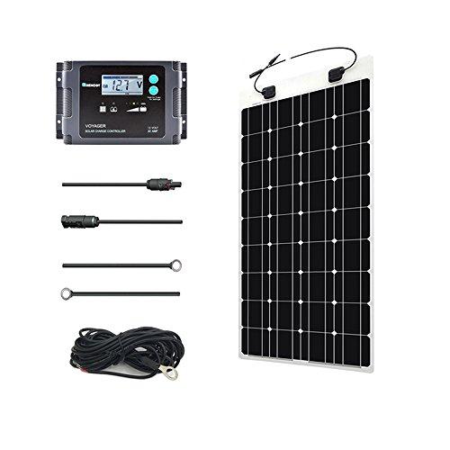 Renogy 100 Watt 12 Volt Solar Marine Kit with 20A PWM Waterp