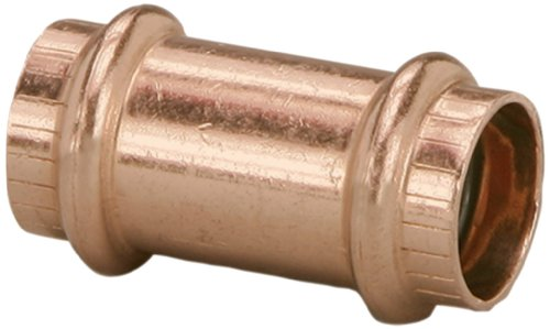 - Viega 78177 ProPress Zero Lead Copper Coupling without Stop 3/4-Inch P x P, 10-Pack