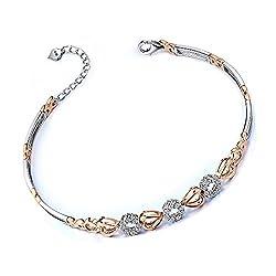 Multi-tone Gold Natural Diamond Bracelet