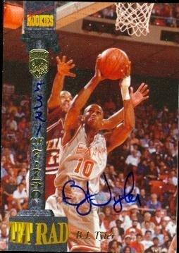 Autograph Warehouse 53967 B.J. Tyler Autographed Basketball Card Texas 1994 Signature Rookies No .Lxxviii ()
