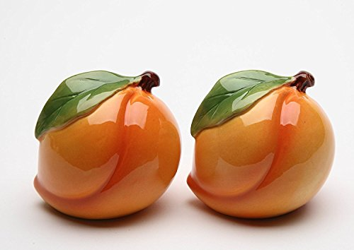 Cosmos 20835 Gifts Peach Salt and Pepper Set, Ceramic, 2-Inch