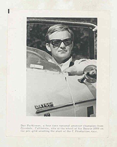 1968 1969 1970 Datsun 2000 Roadster Race Car & Dan Parkinson Press (2000 Press Photo)