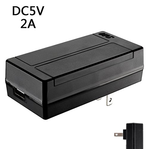 Price comparison product image uxcell DC 5V 2A Switching AC to DC Uninterruptible Power Supply Adapter 5.5x2.1mm Plug for Routers Speakers CCTV Cameras Smart Phone LED Power Strip
