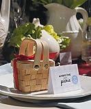 "Miniature Woven Picnic Basket W9155 Quantity of 6 - 3"" X 2"" X 2 1/4"""