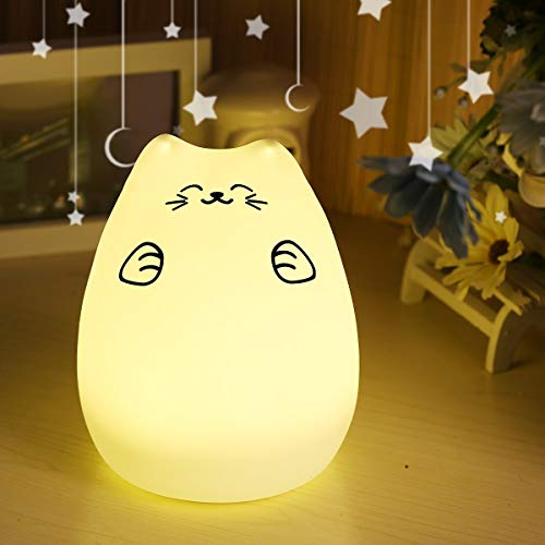 (Zefa Night Lights for Kids, Baby Night Lamp,Nursery Lamp, BPA-Free Silicone LED Touch Control, Eye Caring LED, Multi-Color Bedroom Nightlight for)
