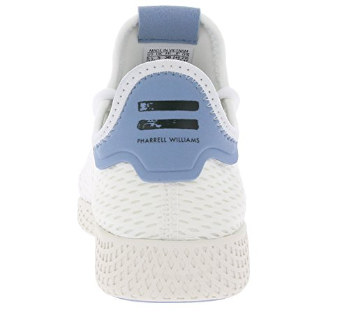 Textile White Youth Pharrell White blue Williams Originals Hu Adidas Trainers Tennis fwRP0