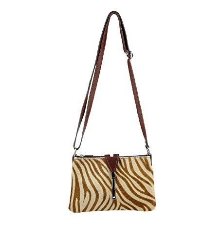Bag camel Crossed bxhxt Weiß 24x15x3 Italy Made Women Cm 80wx01Rv
