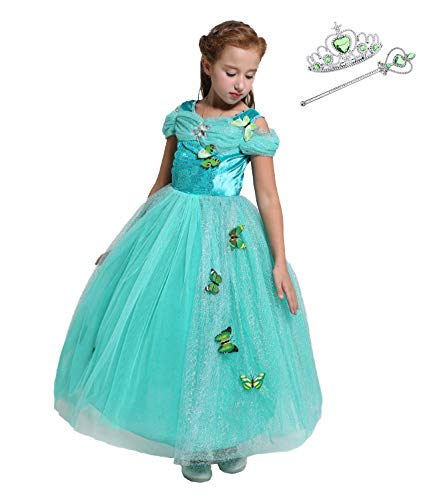 Lito Angels Girls Princess Jasmine Dress Up Costume Halloween Fancy Dress with Accessories Size 10/12]()