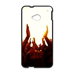 concert hands in the air HTC One M7 Cell Phone Case Black Custom Made pp7gy_3351343