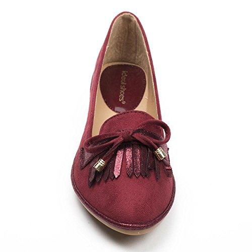donna Ideal Rosso Shoes Shoes Ideal Ballerine wIqfIr