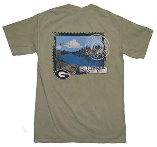 Georgia Bulldogs Georgia River Scene (Scene Dog T-shirt)