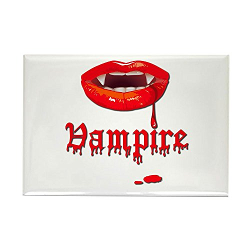 Rectangle Magnet Vampire Fangs (Vampire Rectangle Magnet)