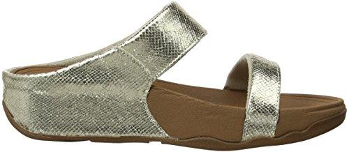 Vestido Fitflop Lulu Lustra Slide Sandal Pale Gold