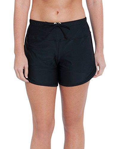 Tuga Women's UPF 50+ Swim Short, Black, X-Large