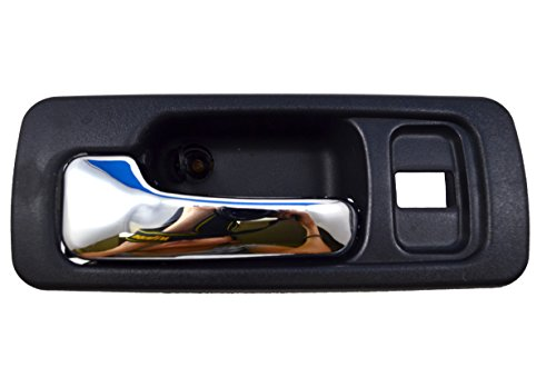 1991 Honda Accord Sedan Door - PT Auto Warehouse HO-2578MA-FL - Inside Interior Inner Door Handle, Black Housing with Chrome Lever - 4-Door Sedan, Driver Side Front