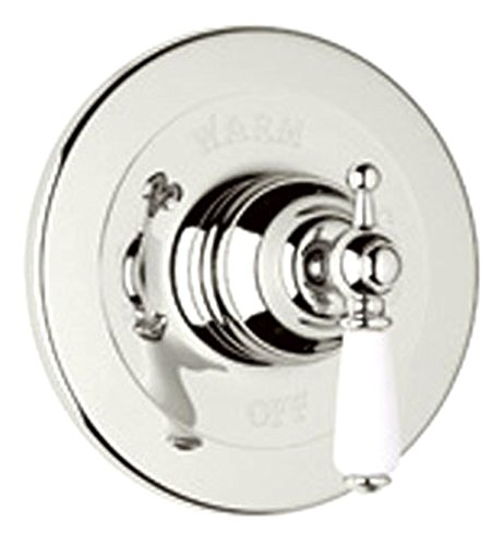 Rohl U.1000L-PN T184508.002 Pressure Balanced Concealed Bath Edwardian Volume Control Faucet Shower Trim Only, Polished Nickel