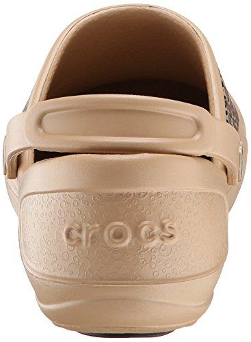 Crocs Mercy Work - Zuecos de goma Gold