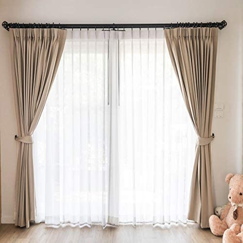 Baocicco 10x10ft Interior Room Decorations Backdrop Lightsome White Curtains Wooden Floor Cute Bears Photography Background Family Children Bestie Portrait Studio Shoot Props