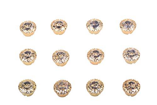 Button Gold Round (KAOYOO 100Pcs 8mm/0.3