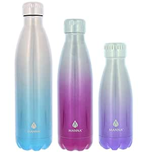 Amazon Com Manna Vogue Metallic Insulated Water Drink Bottles
