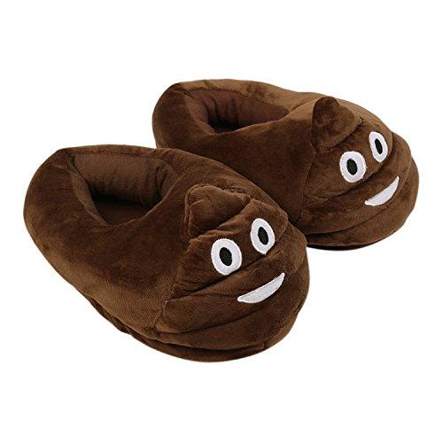 Doux Pantoufles Chaussons Pantoufles Unisexe Cartoon Adultes Desshok Emoticon d'intérieur Couleur08 d'hiver Plush pour de Chauds Chaussons Chaussures Sommeil SwfqSra